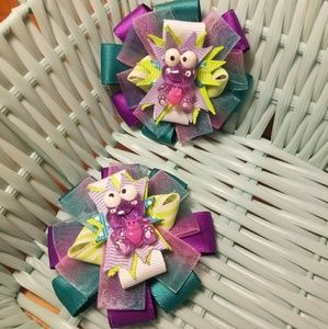 Other - Purple and green frog bows